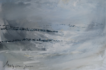 Misty-seas-and-geese-pastel-on-paper