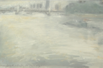 Morningbreak-silently-the-river-slips-pastel-on-paper-42cm-x-25cm