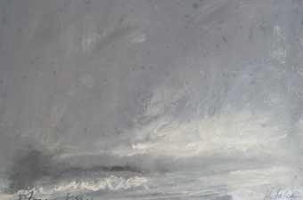 Storm-and-snow-pastel-on-paper