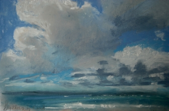 Big skies and high winds - pastel on paper